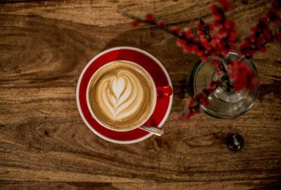 Kaffeeröstung für Cappuccino