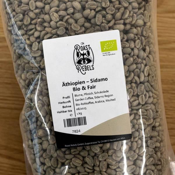 Organic green coffee: Ethiopia, Sidamo