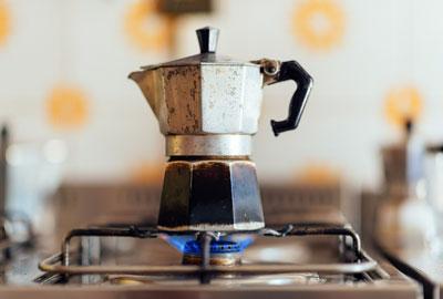 Kaffeeröstung für Bialetti