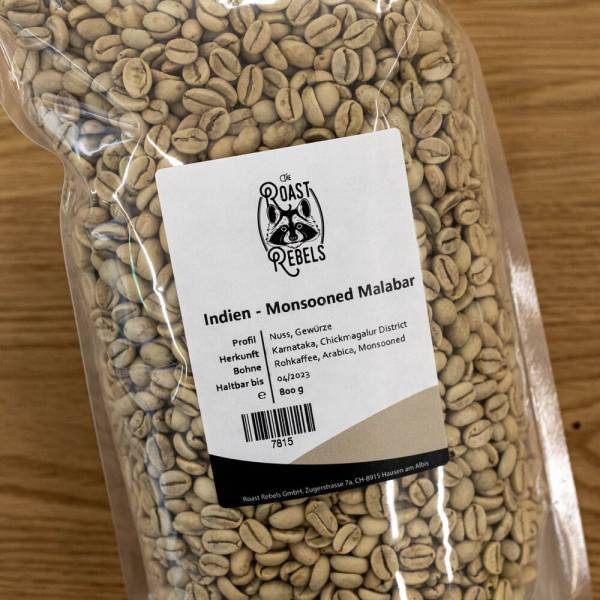Rohkaffee Indien Monsooned Malabar