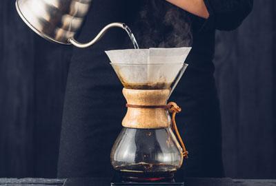 Kaffeeröstung für Chemex