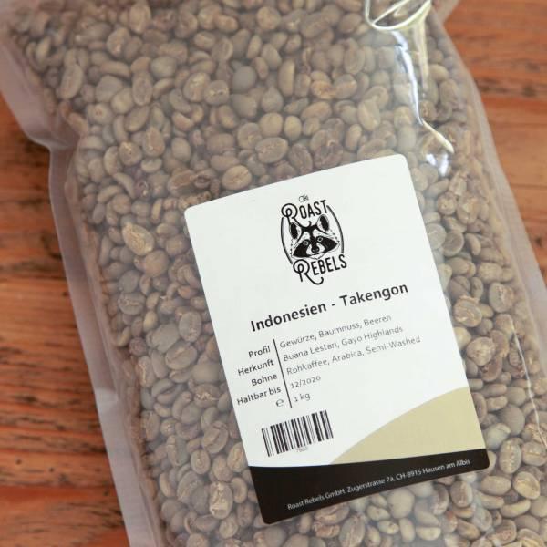 Grüne Kaffeebohnen Indonesien Gayo