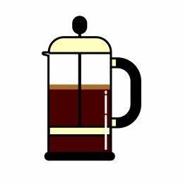 Kaffeebohne für French Press